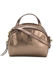 Il Bisonte Mini Rounded Crossbody Bag Metallic