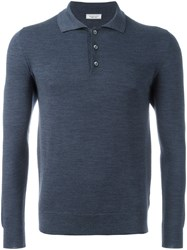 Fashion Clinic Timeless Lonsleeved Polo Shirt Blue