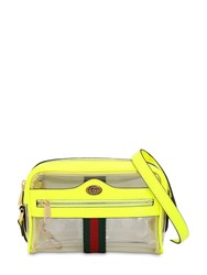 Gucci Mini Ophidia Ghost Vinyl Shoulder Bag Yellow