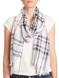 Lord And Taylor Cotton Plaid Scarf Orchid