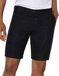 John Varvatos Textured Linen Shorts Black