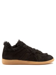 Maison Martin Margiela Replica Low Top Shearling Lined Trainers Black