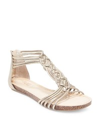 Me Too Cali Suede Gladiator Sandals Gold