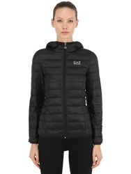 Emporio Armani Train Core Hooded Light Down Jacket Black