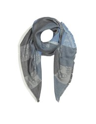Vivienne Westwood Navy Woven Viscose And Modal Square Scarf Navy Blue