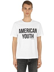 Calvin Klein Jeans American Youth Cotton Jersey T Shirt White