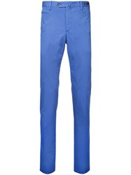 Pt01 Slim Fit Cropped Chinos Blue