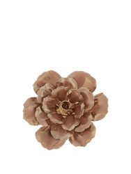 Alexander Mcqueen Flower Enamel Coated Brass Brooch Light Pink