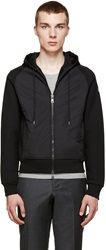 Moncler Black Lined Zip Up Hoodie