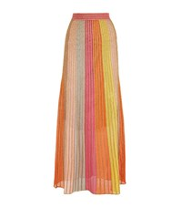M Missoni Glitter Stripe Maxi Skirt Female Multi