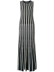 N.Peal Cashmere Contrast Stripe Maxi Dress Blue