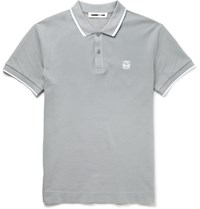 Mcq By Alexander Mcqueen Slim Fit Cotton Piqua Polo Shirt Gray
