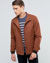 Esprit Lightweight Jacket With Drawstring Hem Rust Brown
