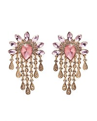 Juliet And Company Peony Half Moon Drop Earrings Compare At 49 Rose Gold