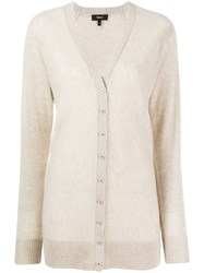 Theory Knitted Cashmere Cardigan Neutrals