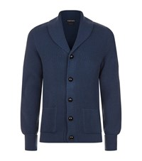 Tom Ford Chunky Steve Mcqueen Cardigan Male Navy
