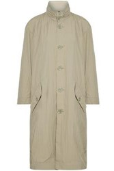 Opening Ceremony Woman Printed Crinkled Shell Hooded Coat Beige