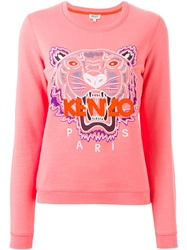 Kenzo 'Tige'r Sweatshirt Pink And Purple