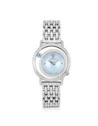 Versace Venus Stainless Steel W Light Blue Dial Women's Watch Silver