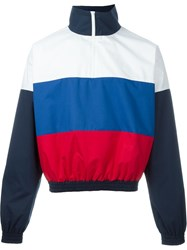 Gosha Rubchinskiy Colour Block Zipped Sweatshirt Blue