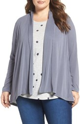 Bobeau Plus Size Women's Modal Blend Open Front Cardigan