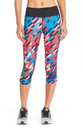 Women's Zella 'Run The Run' Print Capri Leggings