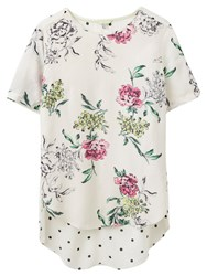 Joules May Printed Top Cream Floral