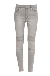French Connection The Rebound Biker Stitch Jeans Grey