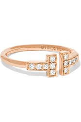 Tiffany And Co. T Wire 18 Karat Rose Gold Diamond Ring