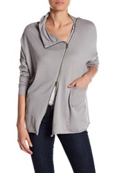 Research And Design Asymmetrical Zip Sweater Gray