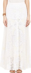 Sea Tribal Lace Maxi Skirt White Size 2 Us