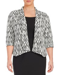 Nipon Boutique Plus Shawl Collar Blazer Black White