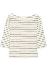 By Malene Birger Tirans Striped Cotton Terry Top Cream
