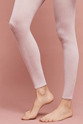 Anthropologie Ribbed Footless Tights Pink