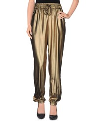 Lucy Paris Trousers Casual Trousers Women Gold