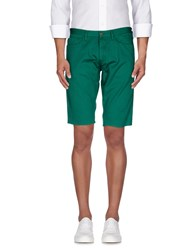 M.Grifoni Denim Trousers Bermuda Shorts Men Green
