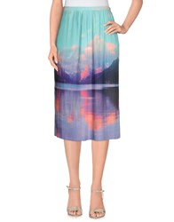 Yumi' Skirts 3 4 Length Skirts Women Turquoise
