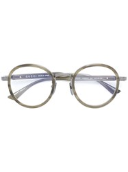 Gucci Eyewear Wide Bridge Round Glasses Green