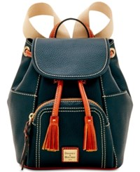 Dooney And Bourke Murphy Small Backpack Black Gold