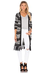 Minkpink Smoke On The Water Cardigan Black And White