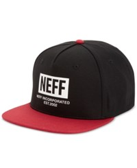 Neff Men's New World Cap Black Red