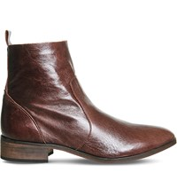 Office Ashleigh Leather Ankle Boots Brown Leather