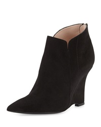 Musa Pointed Toe Wedge Bootie Onyx Furla