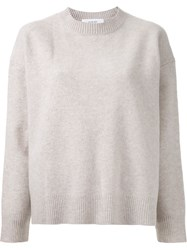 Le Ciel Bleu Crew Neck Sweater Nude And Neutrals
