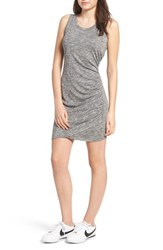 Love Fire Ruched Minidress Grey