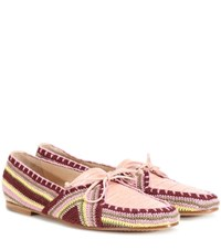 Gabriela Hearst Hays Crocheted Loafers Pink