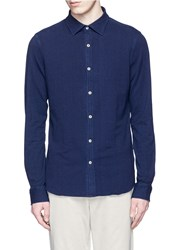 Denham Jeans 'Ellis' Stretch Jersey Shirt Blue