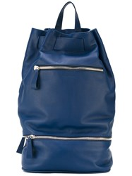 Orciani 'Portland' Backpack Men Leather One Size Blue