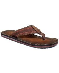 Clarks Men's Logan Tulem Thong Sandals Men's Shoes Brown