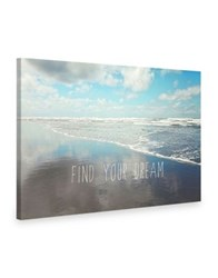 Marmont Hill Find Your Dream Painting Print On Wrapped Canvas Blue